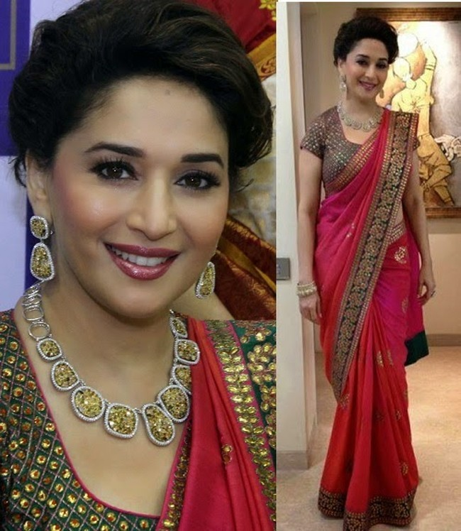 Madhuri Dixits Best Saree Moments Releasing Her Saree