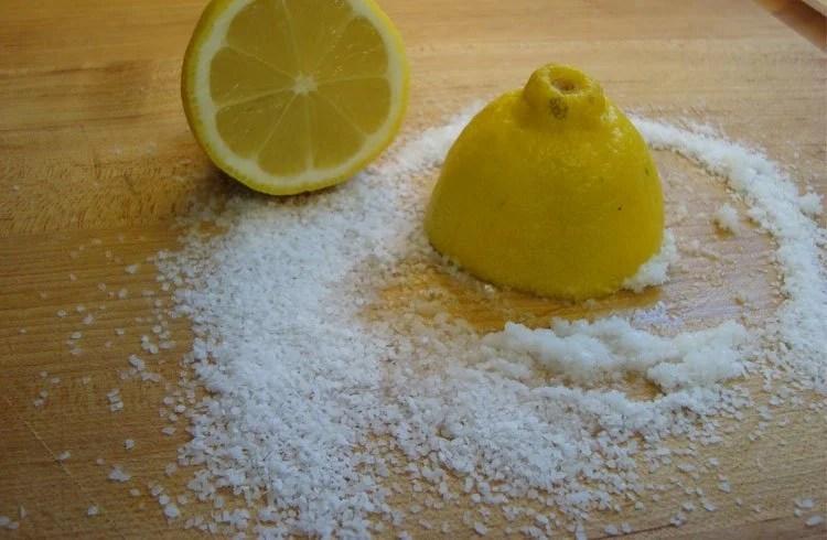 Lemon and Salt to fade tattoo