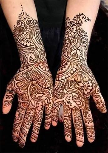 punjabi bridal mehndi design