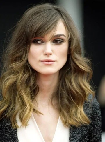 Wavy hair style covered with forehead