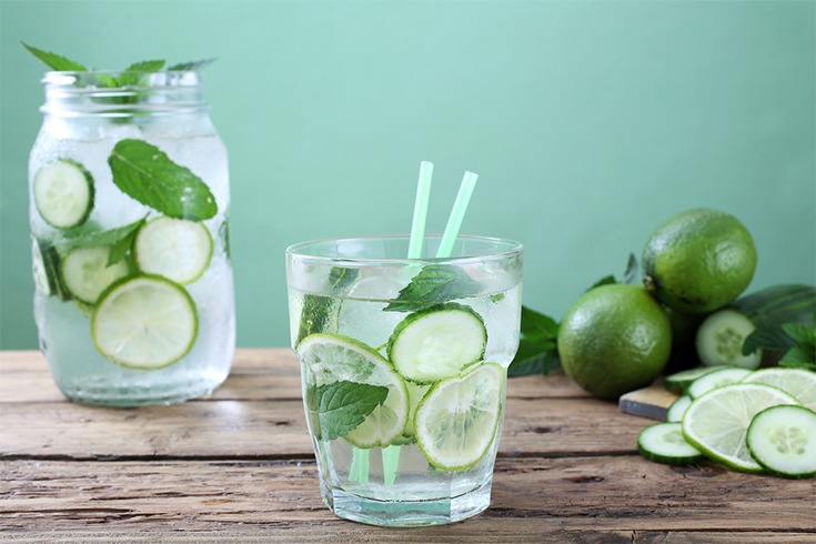 Mint and Cucumber Infused Water