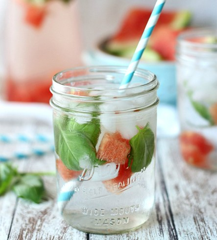 Watermelon and Basil Infused Water Recipe