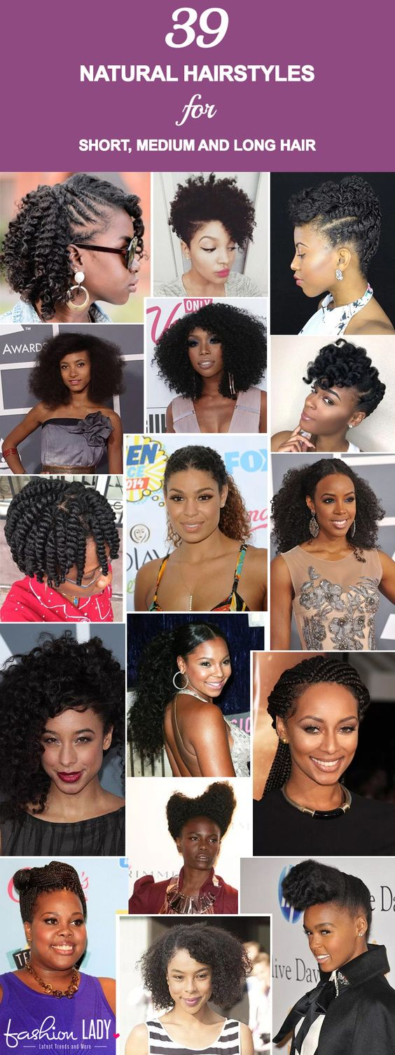 39 gorgeous natural hairstyles for short, medium and long hair