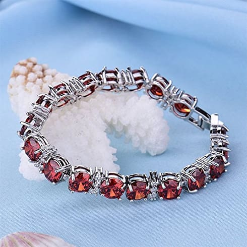 Ruby Party Jewelry Bracelet