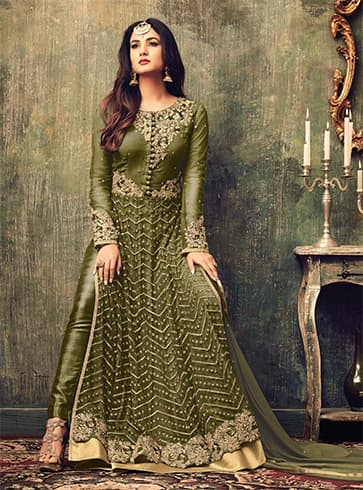 Salwar Suits for Mehndi Ceremony