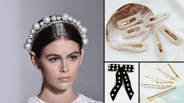 these pearl hair accessories are spiking up big time