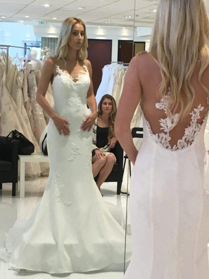fashion meets futbol wedding dress
