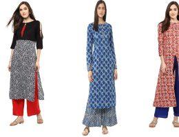 जयपुर कोटन कुर्ती के साथ पहनिए स्टाइलिस्ट प्लाज़ो