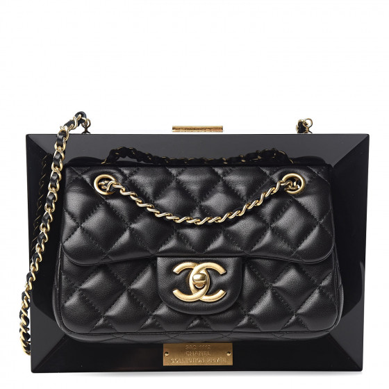 Fashionphile Fabulous Finds - September - Chanel Plexiglass Lambskin Framed Flap Bag Clutch