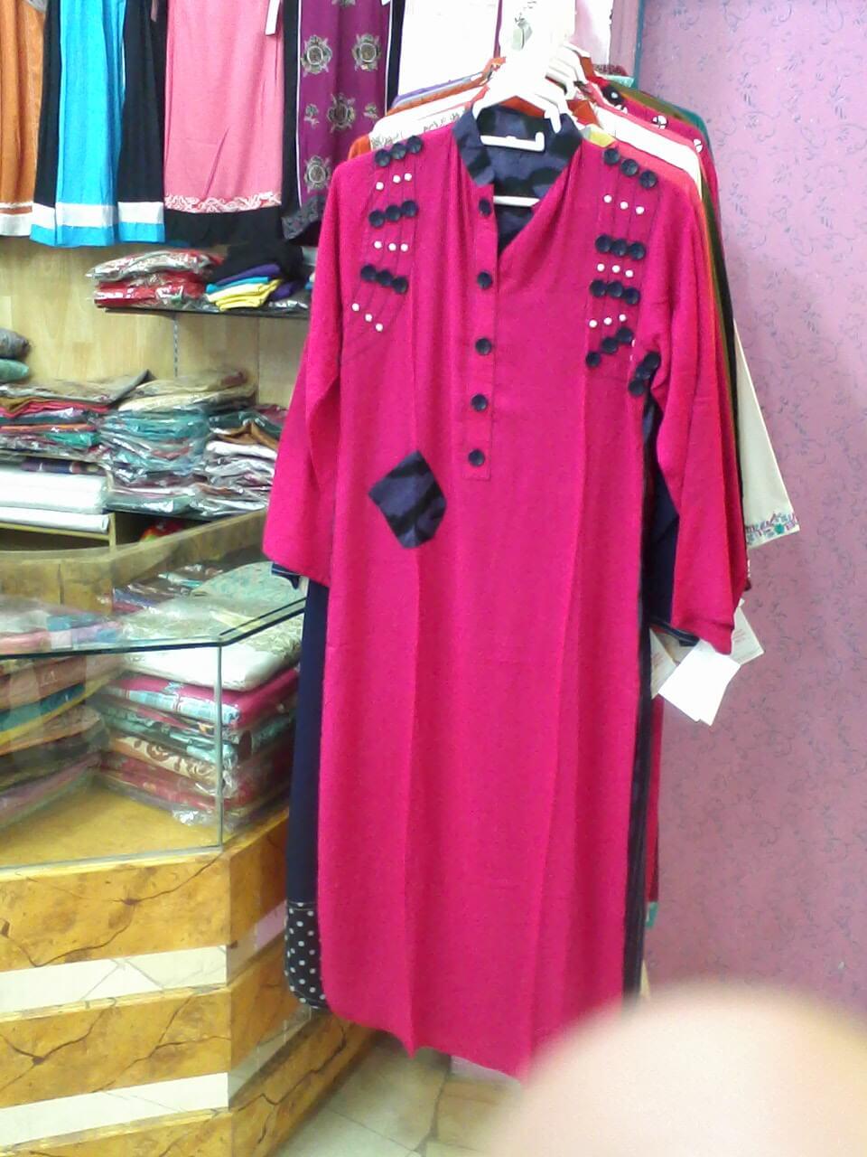 Pink Latest Kurta Shalwar Design Pakistan