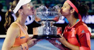 Sania Mirza and Martina Hingis Australian Open tennis Grand Win Sania Mirza and Martina Hingis Australian Open tennis Grand Win sania hingis 2