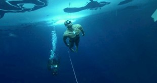 world record for underwater without oxygen in american swimmer World Record for UnderWater Without Oxygen in American Swimmer WR 250 feet under ice only swim trunks Credit Back2Back AceAce 003 Version 2 Esben Hardt AceAce