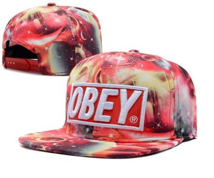 Galaxy Print Plastic Obey Black Hat For Using Summer Season Obey Black Hat For Using Summer Season Obey Red Galaxy Print Plastic Snapback CAP Adjustable Hats