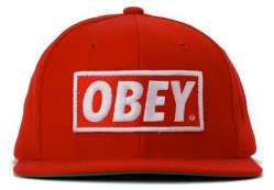 Red Love Obey Black Hat For Using Summer Season Obey Black Hat For Using Summer Season obey original red 1