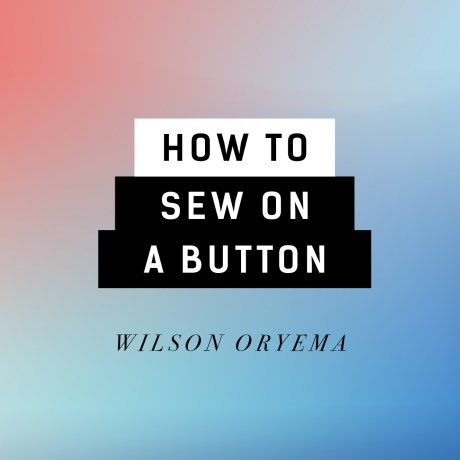 Video: How to sew on a button