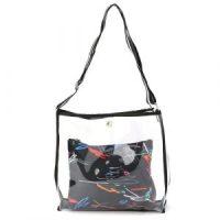 borsa mare in plastica trasparente