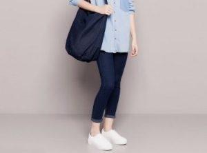 Camicia jeans donna e pantaloni skinny