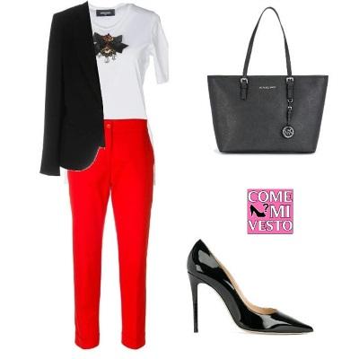 outfit colori che stanno bene con il rosso