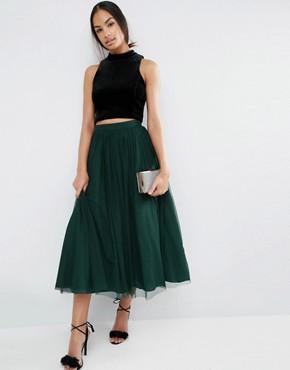 tulle prom skirt green