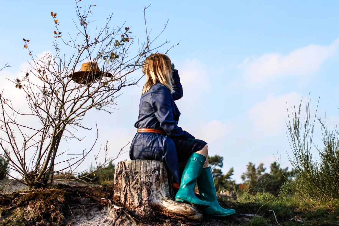 Utilitarian Item and Hunter Boots in the De Loonse en Drunense Duinen