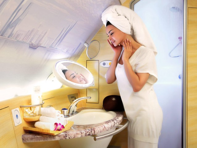 Emirates Shower Spa- Best First Class Airlines