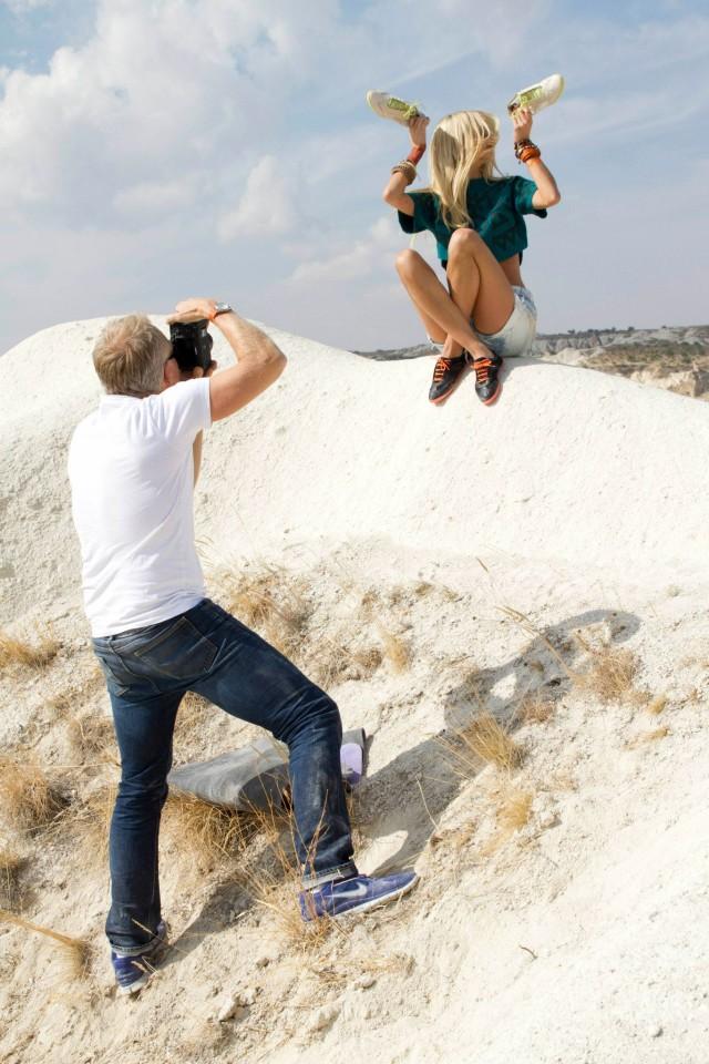 Behind the Scenes at Vagabond Shoes Photoshoot Cappadocia