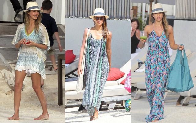 Jessica Alba St Barts Fashion