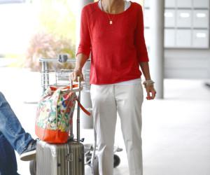 Jessica Alba Airport Style St Barts