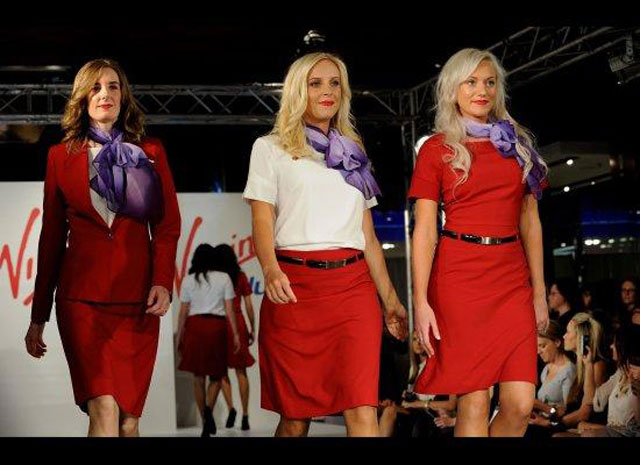 Virgin Atlantic's 2012 uniform