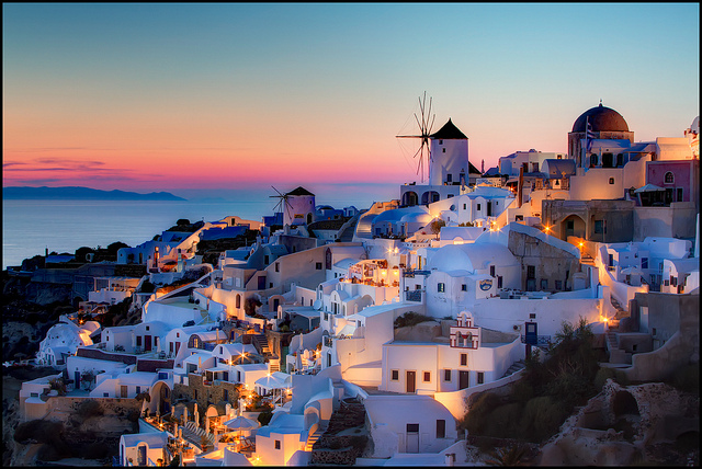 Santorini- islands to visit in Greece