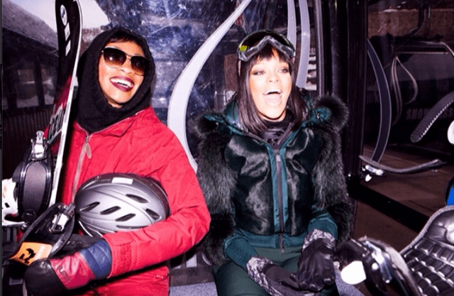 Rihanna on holiday in Aspen