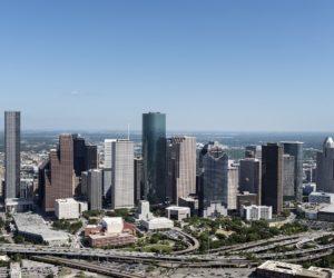 aerial-view-houston-skyline
