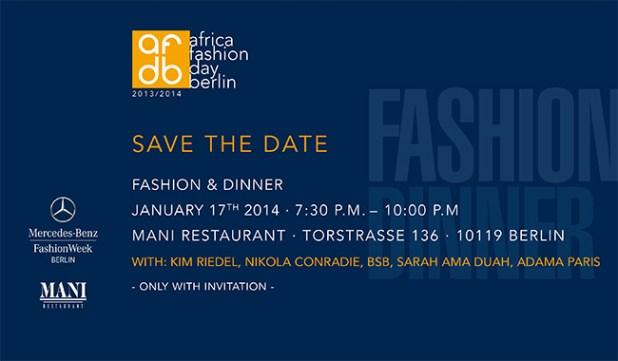 Africa Fashion Day Berlin-Fashion Dinner