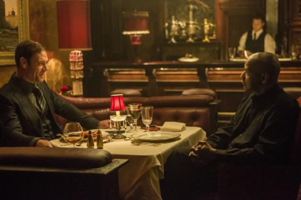 Meeting der Widersacher: Teddy (Marton Csokas, links) und Robert McCall (Denzel Washington), Sony Pictures