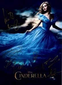 CINDERELLA-Poster mit Unterschriften