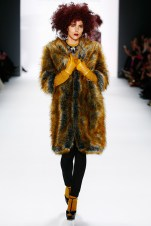 BERLIN, GERMANY - JANUARY 20: Zoe Helali walks the runway at the Guido Maria Kretschmer show during the Mercedes-Benz Fashion Week Berlin Autumn/Winter 2016 at Brandenburg Gate on January 20, 2016 in Berlin, Germany. (Photo by Frazer Harrison/Getty Images for IMG) *** Local Caption *** Zoe Helali