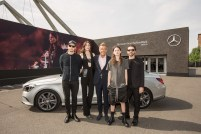 Christian Larson, Lucie Von Alten, Wolfgang Schattling (Mercedes-Benz), Eliot Sumner, David Koma Mercedes-Benz Fashion Week Berlin SPRING/SUMMER 2017, Fashion Talk im Erika-Hess-Stadion in Berlin am 30.06.2016 Foto: Nass / Brauer Photos fuer Mercedes-Benz