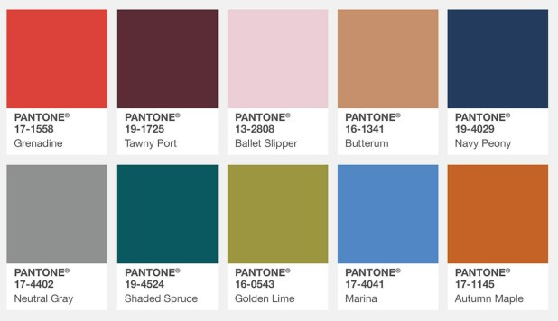 Farbtrends Herbst 2017 New York Pantone