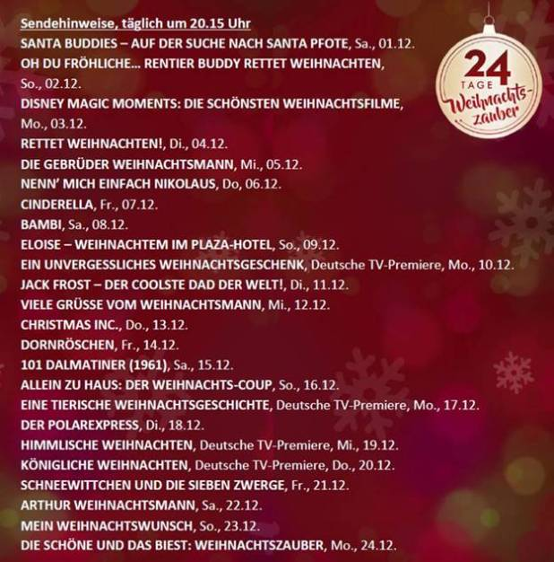 Disney 's magischer Advent