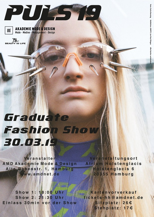 AMD Hamburg PULS.19 Graduate Fashion Show - save the date