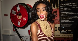 Winnie Harlow bei GNTM 2019 in Outfits von Marina Hoermanseder