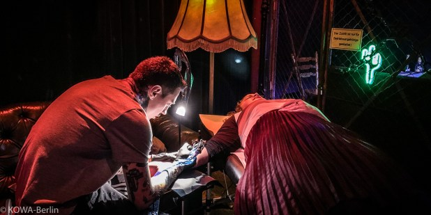 Tattoo-Künstler Philipp Eid @ Wrangler Texas Slim Launch 2020 Berlin - Party