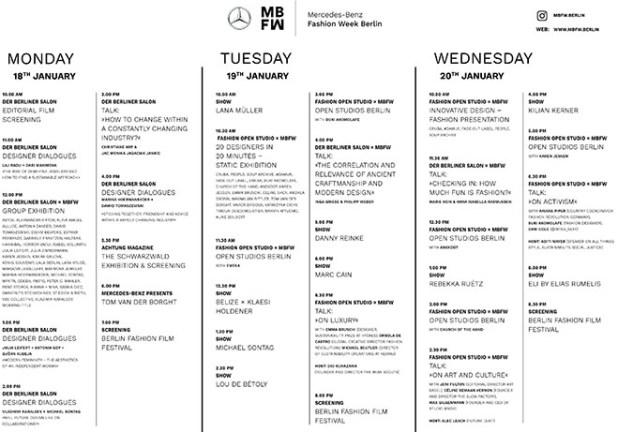 MBFW Berlin 2021 Schauenplan