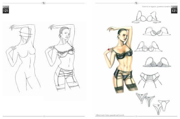 Fashion design book   The fashion drawing book for fashion designer  Many examples of drawing starting from the nude and working up to complete fashion  figure