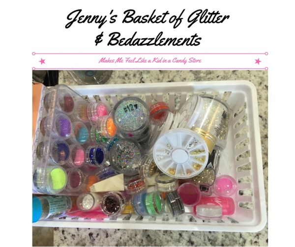 Jenny's Basket of Glitter& Bedazzlements (2)