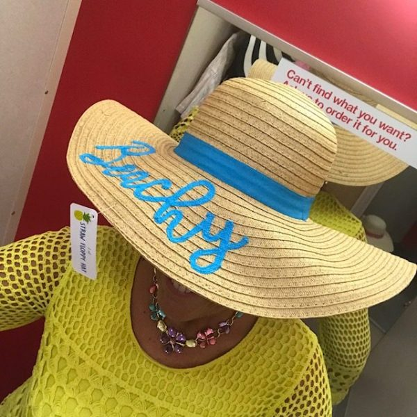 If I had to pick it would be the black and white floppy hat or the floppy  beach hats. The hat that says Beachy and Sunshine are in ... f26d88d6f3f