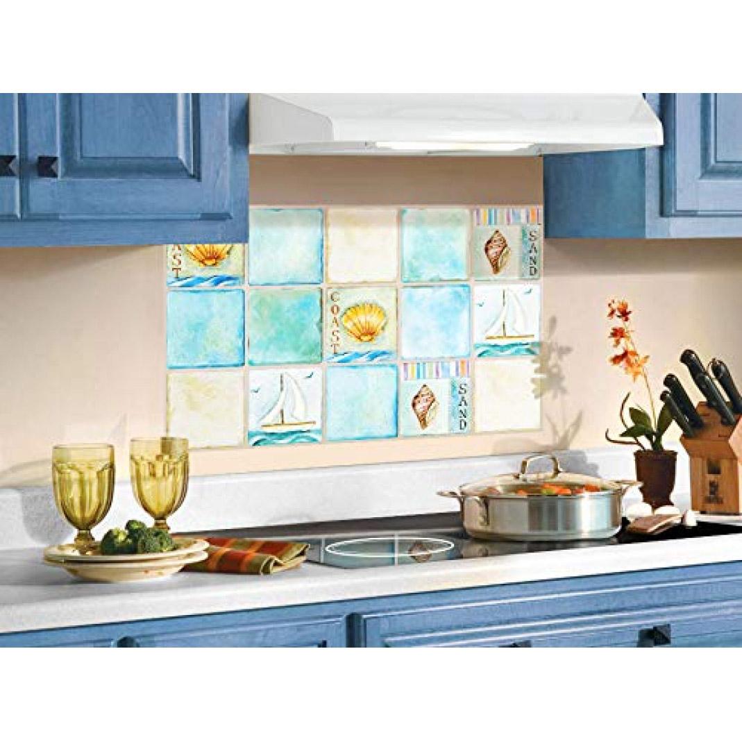 wa00 heat resistant waterproof kitchen sheet blacksplash diy tile stickers