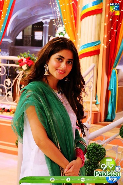 Sajal Ali And Bilal Abbas Khan At Sanam Jung Morning Show Pakistani Drama Celebrities