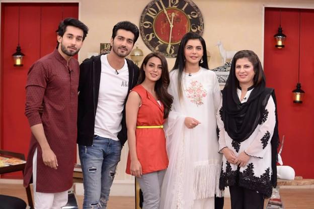Iqra Aziz Amp Bilal Abbas At The Nida Yasir Morning Show