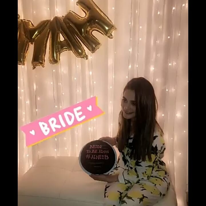 Beautiful Clicks Of Bride To Be Aiman Khan Bridal Shower